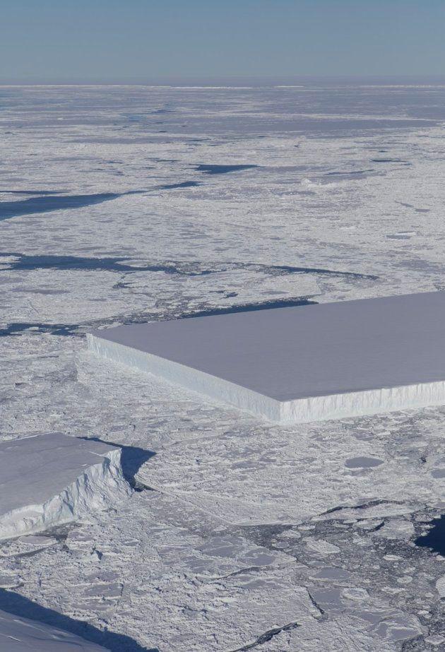 NASAが公開した「真四角すぎる氷山」