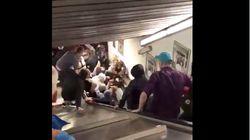 恐怖のエスカレーター。ローマ地下鉄で突然急降下、20人以上が負傷(動画)