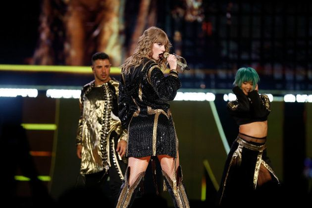 PERTH, AUSTRALIA - OCTOBER 19: Taylor Swift performs at Optus Stadium on October 19, 2018 in Perth, Australia....