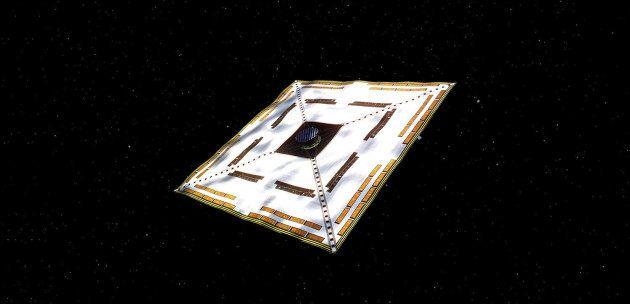 ソーラーセイルの実証機「IKAROS」のイメージ写真