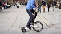 自転車+一輪車÷2=ちょっとした移動にピッタリな斬新な自転車