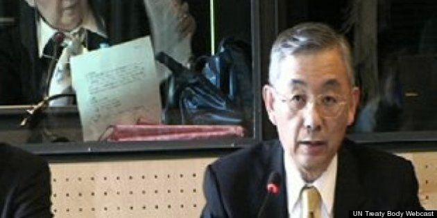 上田秀明大使、国連で「シャラップ!」