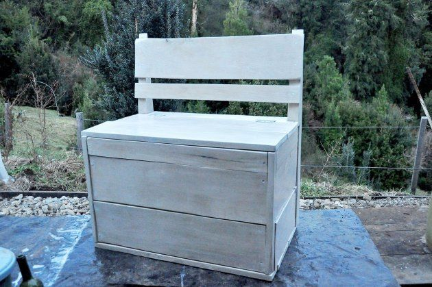 Food storage bench - beautiful and practical for a farm