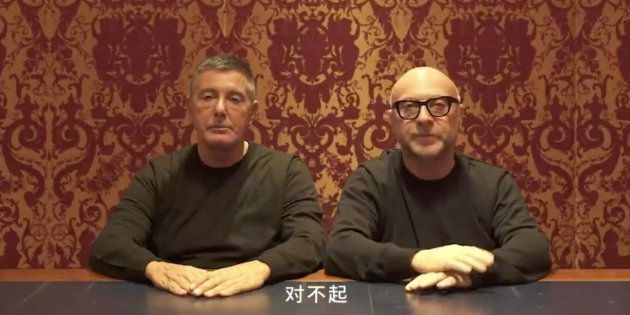ガッバーナ氏(左)とドルチェ氏