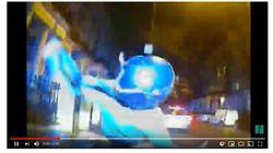 バイク犯罪撲滅へ、パトカーが「体当たり」大作戦。ロンドン警視庁が動画を公開