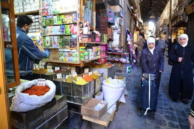 香辛料の専門店=ダマスカスの市場