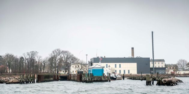 移民の収容施設を建設する予定地、リンホルム島
