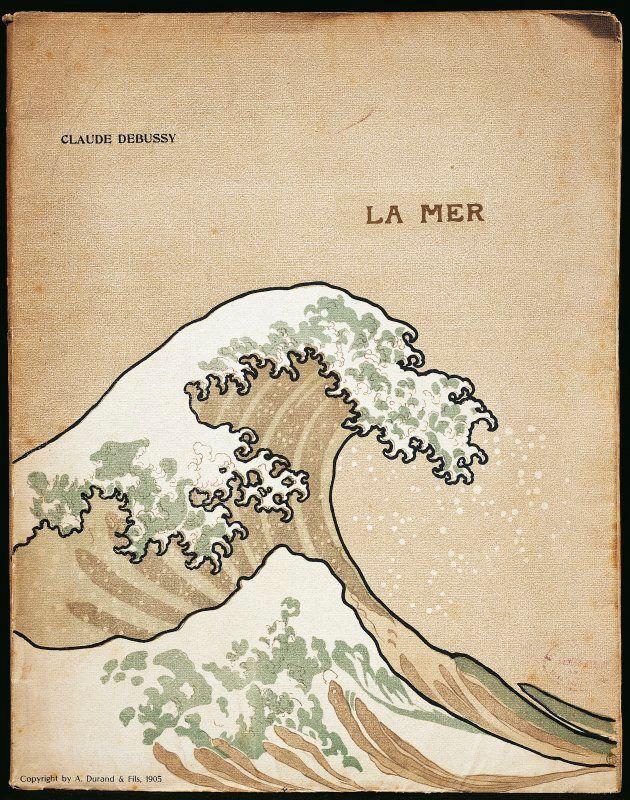 ドビュッシーの『海』の楽譜の表紙(1905年版)