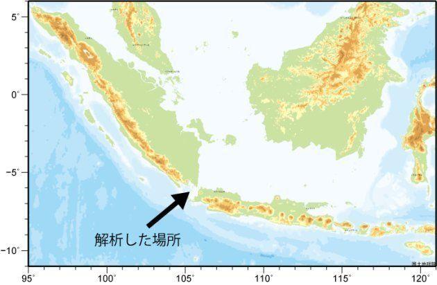 アナク・クラカタウ島の位置