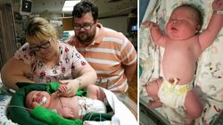6700グラム超のビッグな赤ちゃんが生まれる 身長は54.6センチ