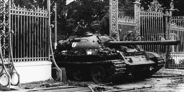 SAIGON, VIET NAM: VIETNAM OUT TO GO WITH 'VIETNAM-US-WAR-ANNIVERSARY' (FILES) This 30 April 1975 file...