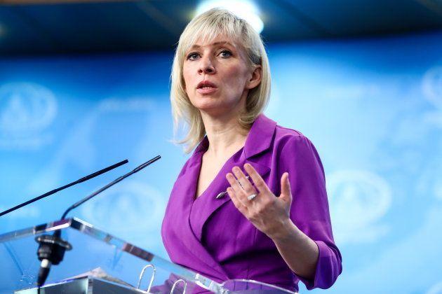 ロシア外務省のザハロワ報道官