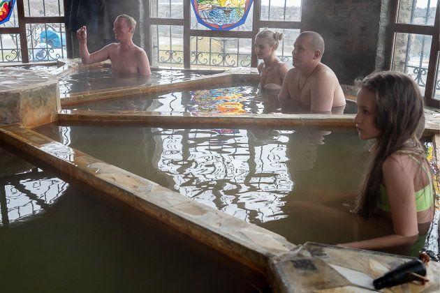 択捉島には温泉施設もある