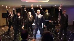 7人の兄弟が花嫁へ感動的なダンスをプレゼント【動画】
