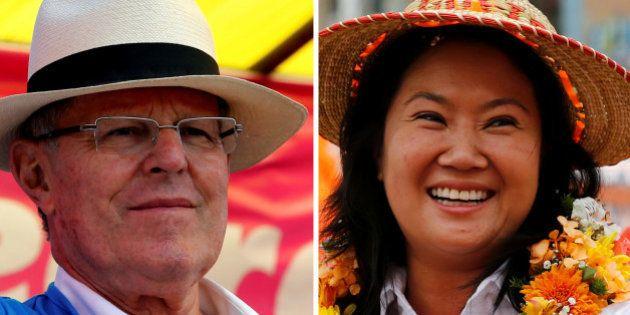 A combination photo shows Peru's presidential candidates (L-R) Pedro Pablo Kuczynski and Keiko Fujimori...