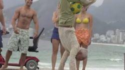 ワールドカップの広告動画、ブラジル一般人のプレイに驚愕