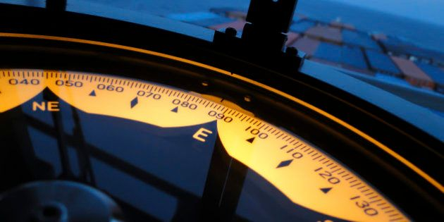Nautical equipment designed to indicate ship's heading in relation to true