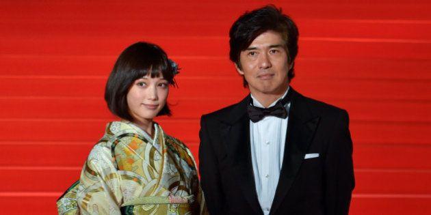 TOKYO, JAPAN - OCTOBER 22: (L-R)Actress Tsubasa Honda and Actor Koichi Sato attend the opening ceremony...