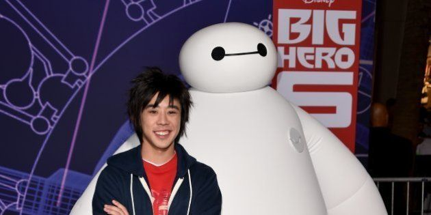 HOLLYWOOD, CA - NOVEMBER 04: Characters Hiro and Baymax attend the premiere of Disney's 'Big Hero 6'...
