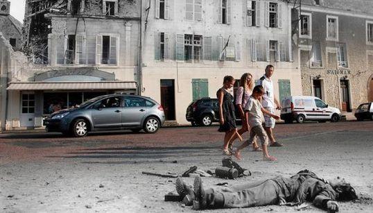 「かつてここは、戦場だった」ノルマンディー作戦、今と昔をつなぐ写真に揺さぶられる(画像集)