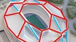 ザハ案に見せかけようとして構造的に非合理な状況が生じている新国立競技場の基本設計
