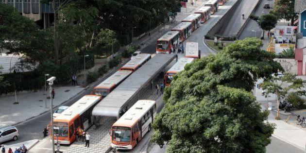 ワールドカップ直前、サンパウロでバス運転手が大規模ストライキ