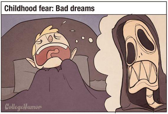 大人と子ども、恐怖を感じるものはこんなに違う(イラスト)