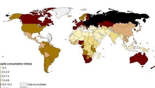 「酒飲みの国」が一目でわかるインフォグラフィック
