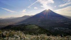 「ダイヤモンド富士」光り輝く。富士山も新年をお祝い(画像・動画)