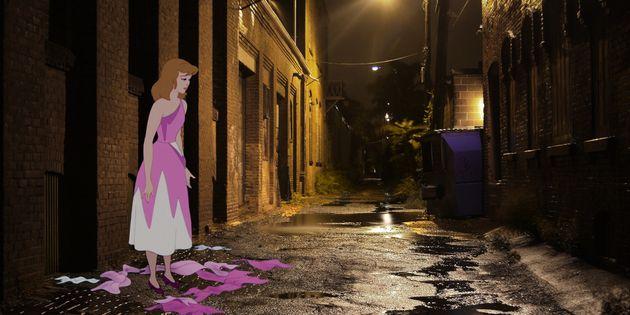 つらい現実世界に住むディズニーキャラクターたち