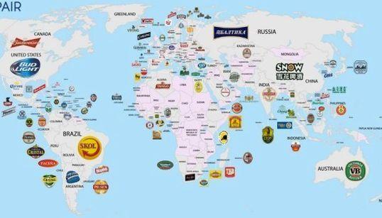 世界各国で一番飲まれているビールはこれだ ダダダーン!(地図)
