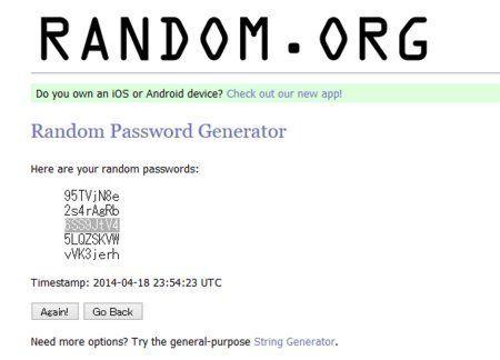 たったひとつでいいから、完璧にランダムなパスワードをつくって覚えよう!