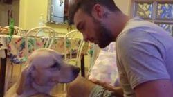猛反省のわんこに思わず飼い主はムギュー(動画)