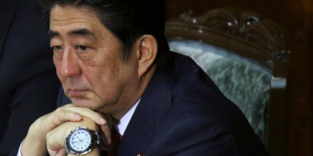 Shinzo Abe, Japan's prime minister, attends a session at the lower house of parliament in Tokyo, Japan,...