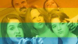 反同性愛者の落書きを見た母は、子供たちのために......(LGBT)