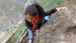 「死と隣り合わせ」の通学 790mの崖をよじ登る中国の子どもたち