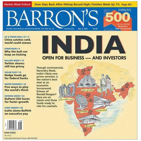 『バロンズ』の巻頭記事は総選挙が行われているインド