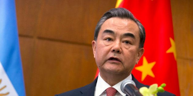 China's Foreign Minister Wang Yi speaks at a joint press conference with Argentina's Foreign Minister...