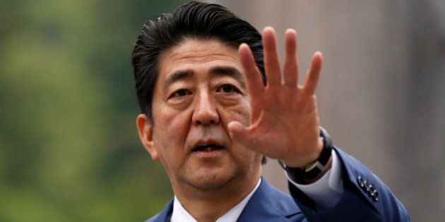 Japan's Prime Minister Shinzo Abe visits the Ise Grand Shrine, the holiest site in Japan's Shinto religion,...