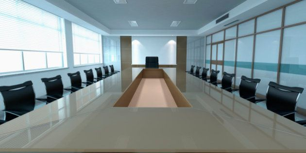 modern office meeting room with large