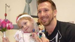 がんを患う4歳の少女が、大好きな看護師と