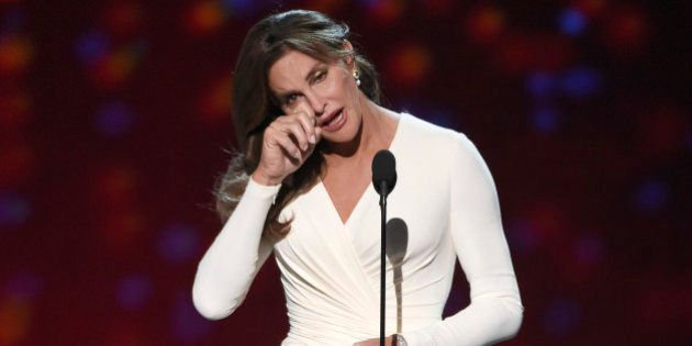 Caitlyn Jenner accepts the Arthur Ashe award for courage at the ESPY Awards at the Microsoft Theater...