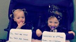「双子だけど一卵性じゃありません」ママがメッセージで立ち入った質問をシャットアウト(画像)