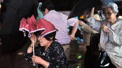 近畿、東海、関東で 傘が役に立たないような雨の恐れ