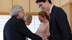 「いざサミット」一番乗りはカナダ首相、天皇皇后両陛下と面会(画像)
