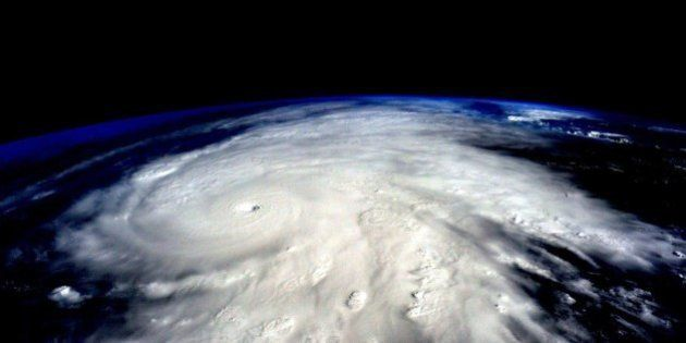 IN SPACE - In this handout photo provided by NASA, Hurricane Patricia is seen from the International...