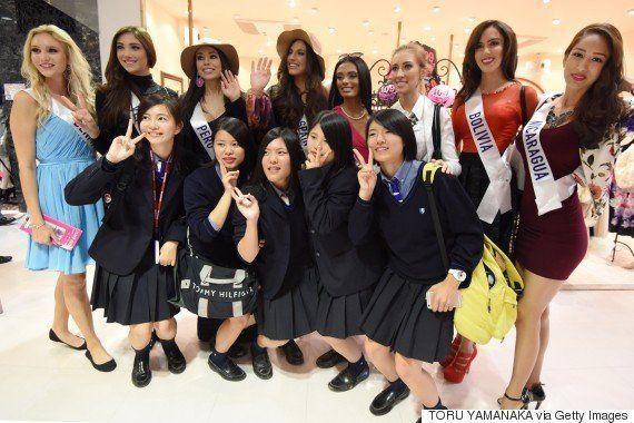 ミス・インターナショナル世界大会の出場者、渋谷をお散歩(画像)