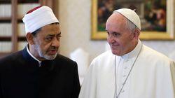 ローマ法王がイスラム教スンニ派権威と会談「私たちの出会いこそがメッセージ」