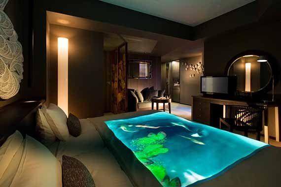 04 | ベッドの上で、鯉が泳ぐ部屋 ~THANN