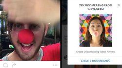 Instagram、1秒(無限ループ)ビデオを撮影するアプリをリリース